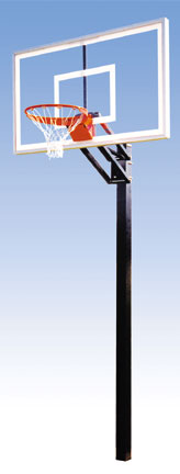 stationary basketball backboard