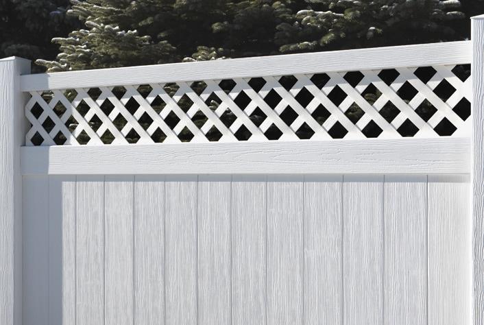 Building A Fence With Vinyl Lattice 187 Fencing